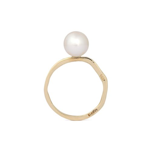 AKOYA PEARL SET SLICE RING