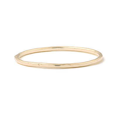 HAMMERED 14K RING